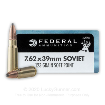 Image 1 of Federal 7.62X39 Ammo
