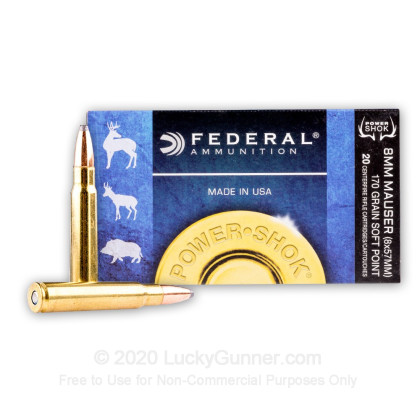 Image 2 of Federal 8mm Mauser (8x57mm JS) Ammo