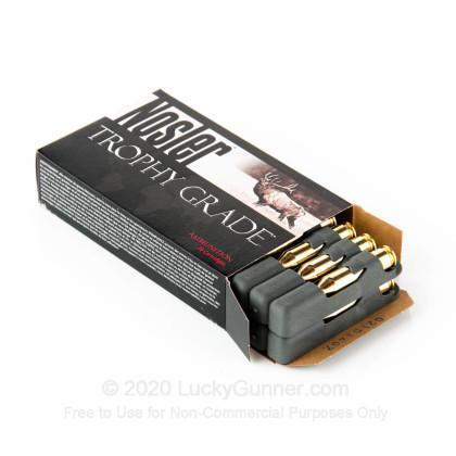 Large image of Nosler Trophy Grade 243 Winchester 90gr Accubond Ammo For Sale At Lucky Gunner - 20 Rounds
