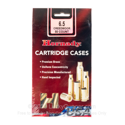 Large image of Bulk 6.5 Creedmoor Ammo For Sale - New Unprimed Brass Ammunition in Stock by Hornady - 50 Casings