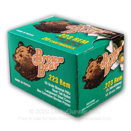 Image 5 of Brown Bear .223 Remington Ammo