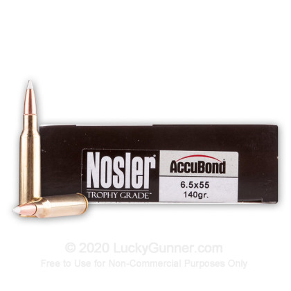 Image 1 of Nosler Ammunition 6.5x55 Swedish Ammo