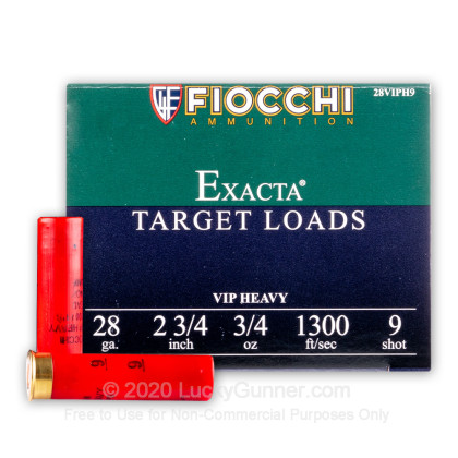 "Large image of Bulk 28 Gauge Ammo For Sale - 2-3/4"" 3/4oz. #9 Shot Ammunition in Stock by Fiocchi - 250 Rounds"