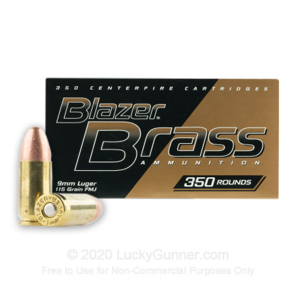 Image 1 of Blazer Brass 9mm Luger (9x19) Ammo