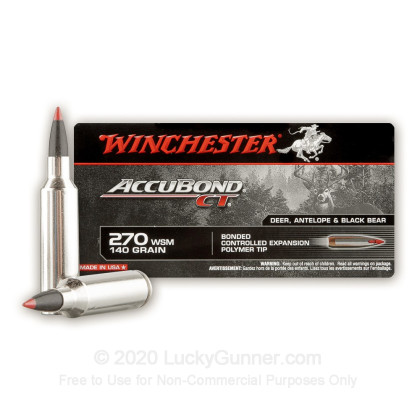 Image 2 of Winchester .270 Winchester Short Magnum Ammo