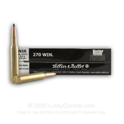 Image 2 of Sellier & Bellot .270 Winchester Ammo