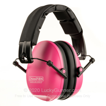 Large image of Champion Slim Pink Passive Earmuffs For Sale - 21 NRR - Champion Hearing Protection in Stock