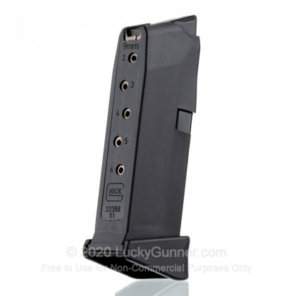 Large image of Premium 9mm Luger G43 Magazine with Pinky Rest For Sale - 6 Round 9x19mm Glock Factory G43 Magazine for sale - 1 Magazine