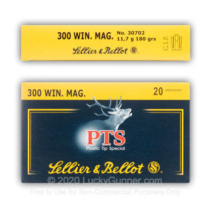 Image 4 of Sellier & Bellot .300 Winchester Magnum Ammo
