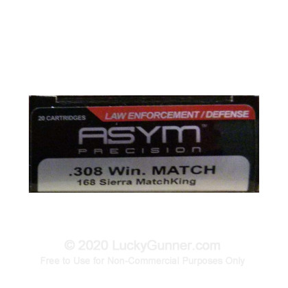 Image 1 of ASYM Precision Ammunition .308 (7.62X51) Ammo