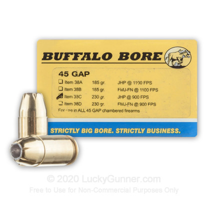 Image 1 of Buffalo Bore .45 GAP Ammo