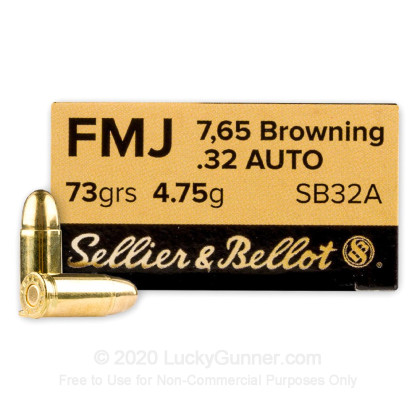 Image 1 of Sellier & Bellot .32 Auto (ACP) Ammo