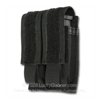 Large image of Double Magazine Pouch MOLLE Loop Pistol Blackhawk Black For Sale