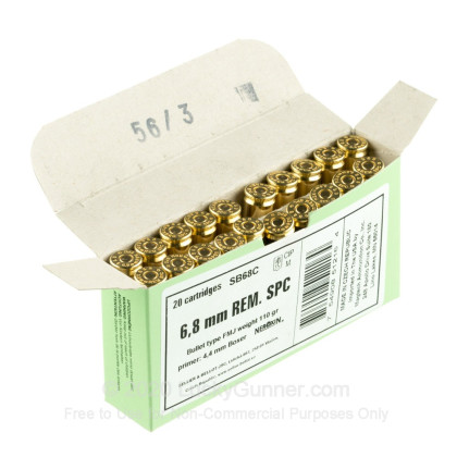 Image 2 of Sellier & Bellot 6.8 Remington SPC Ammo