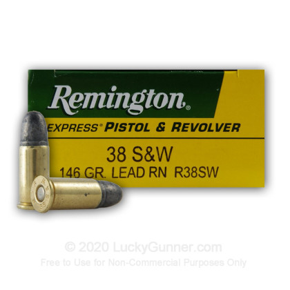 Image 1 of Remington .38 Smith & Wesson Ammo