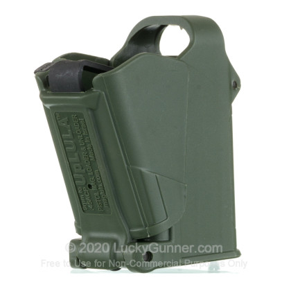 Large image of maglula Dark Green Universal Pistol Magazine Loader For 9mm through 45 ACP handgun magazines For Sale