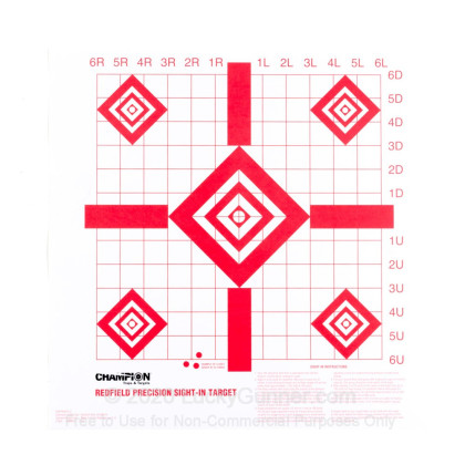 """Large image of Champion Targets For Sale - Redfield  16"""" Sight-In Targets - 100 Pack"""