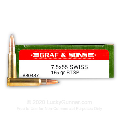 Image 1 of Hornady 7.5x55 Swiss Ammo