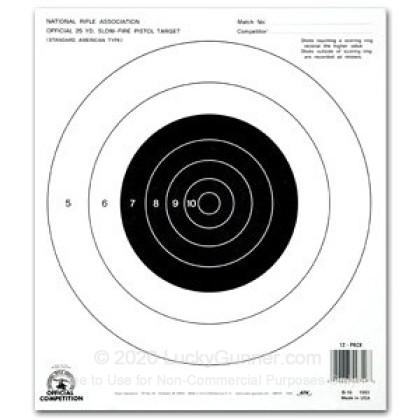 Large image of Champion Targets For Sale - 25 Yard NRA Slow Fire Pistol Targets - 12 Pack