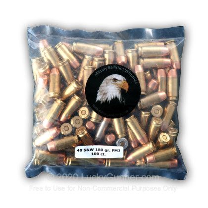 Image 5 of Military Ballistics Industries .40 S&W (Smith & Wesson) Ammo