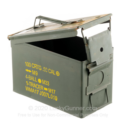 Large image of 9mm Green Used Mil-Spec Ammo Cans For Sale