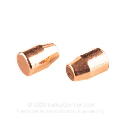 Large image of Bulk 9mm Bullets For Sale - 124 Grain Plated Flat Point Bullets in Stock by Berry's -  1000 Count