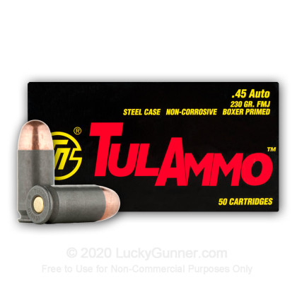 Image 7 of Tula Cartridge Works .45 ACP (Auto) Ammo