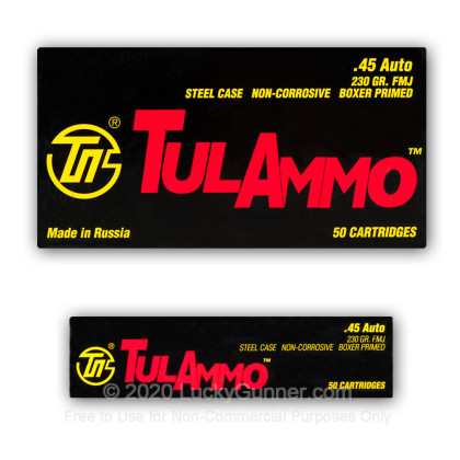 Image 9 of Tula Cartridge Works .45 ACP (Auto) Ammo