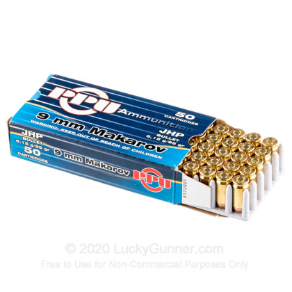 Large image of Cheap 9mm Makarov (9x18mm) Ammo For Sale - 95 gr JHP Prvi Partizan Ammunition For Sale - 50 Rounds