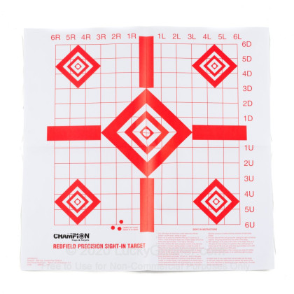 Large image of Champion Targets For Sale - Redfield Style Sight-In Targets - 10 Pack