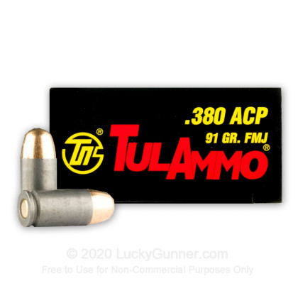 Image 1 of Tula Cartridge Works .380 Auto (ACP) Ammo