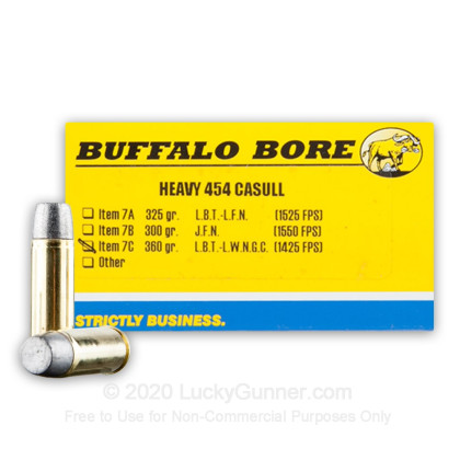 Image 1 of Buffalo Bore 454 Casull Ammo