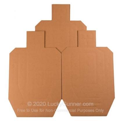 Large image of Bulk Cardboard Targets For Sale - IPSC/USPSA Metric Silhouettes in Stock by Target Barn - 100 Count