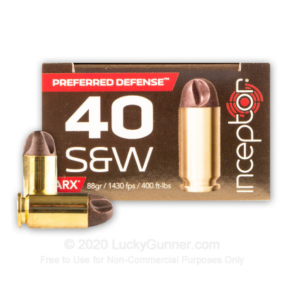 Image 1 of Inceptor .40 S&W (Smith & Wesson) Ammo