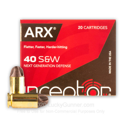 Image 2 of Inceptor .40 S&W (Smith & Wesson) Ammo