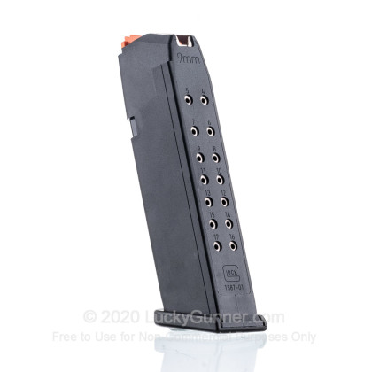 Large image of Factory Glock 9mm G17 - 17 Round Generation 5 Magazine For Sale - 17 Rounds