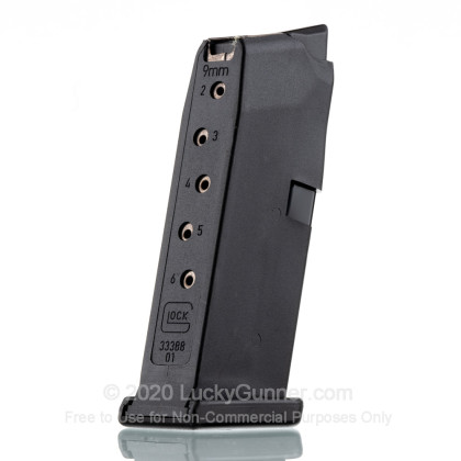 Large image of Factory Glock 9mm Luger G43 Generation 4 Magazine For Sale - 6 Rounds
