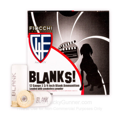 "Large image of Cheap 12 Gauge Blanks For Sale - 2-3/4"" Blank Rounds in Stock by Fiocchi - 25 Rounds"
