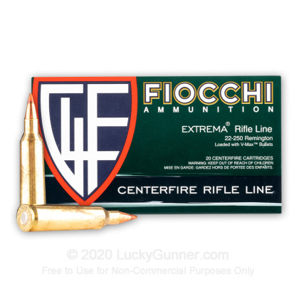 Image 1 of Fiocchi .22-250 Remington Ammo
