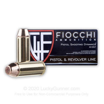 Image 2 of Fiocchi .45 Long Colt Ammo