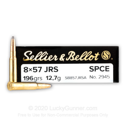 Image 1 of Sellier & Bellot 8x57mm JRS Mauser (8mm Rimmed Mauser) Ammo