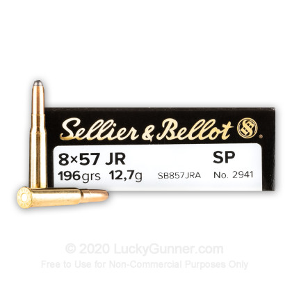 Image 1 of Sellier & Bellot 8x57mm JR (Rimmed Mauser) Ammo