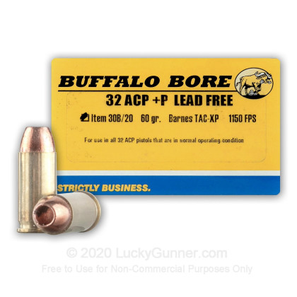 Image 1 of Buffalo Bore .32 Auto (ACP) Ammo