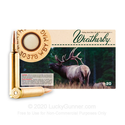 Image 2 of Weatherby Ammunition 30-378 Weatherby Ammo