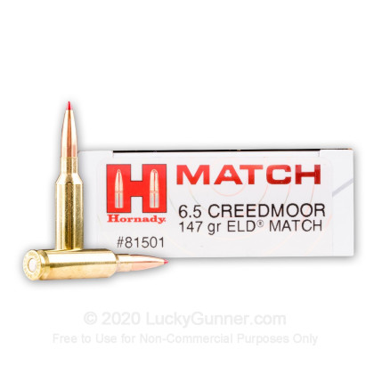 Image 1 of Hornady 6.5mm Creedmoor Ammo