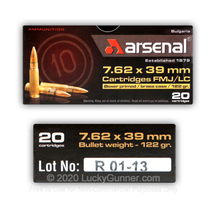 Image 4 of Arsenal 7.62X39 Ammo