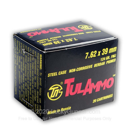 Image 3 of Tula Cartridge Works 7.62X39 Ammo