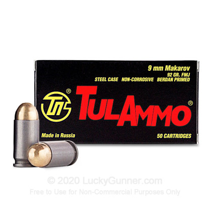 Large image of Cheap 9x18mm Mak Ammo For Sale - 92 Grain FMJ Ammunition in Stock by Tula - 1000 Rounds