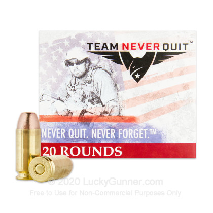 Image 2 of Team Never Quit .40 S&W (Smith & Wesson) Ammo