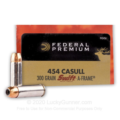 Image 1 of Federal 454 Casull Ammo